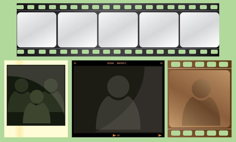 Pacote de vetor de quadro negativo de fotos