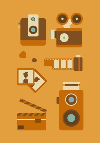 Free Unique Retro Photography Vectors