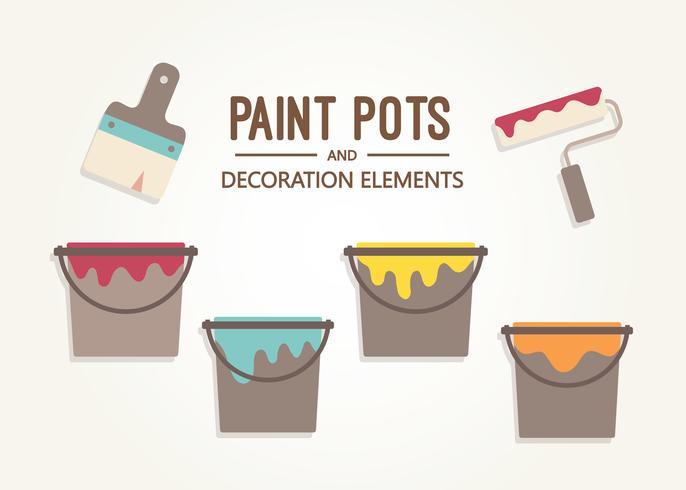 Free Paint Pot Vector