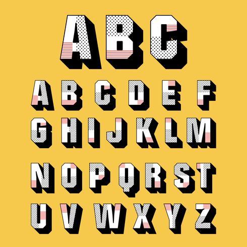 3D Fonts Vector