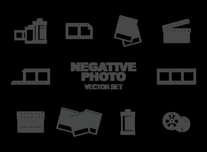 Photo Negative Icons Vector