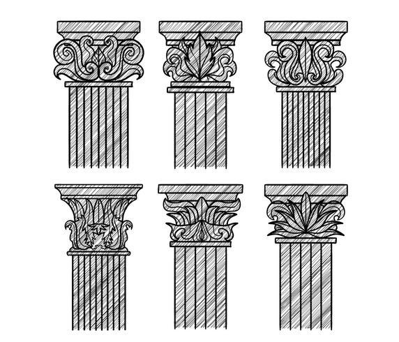 Corinthische vector set