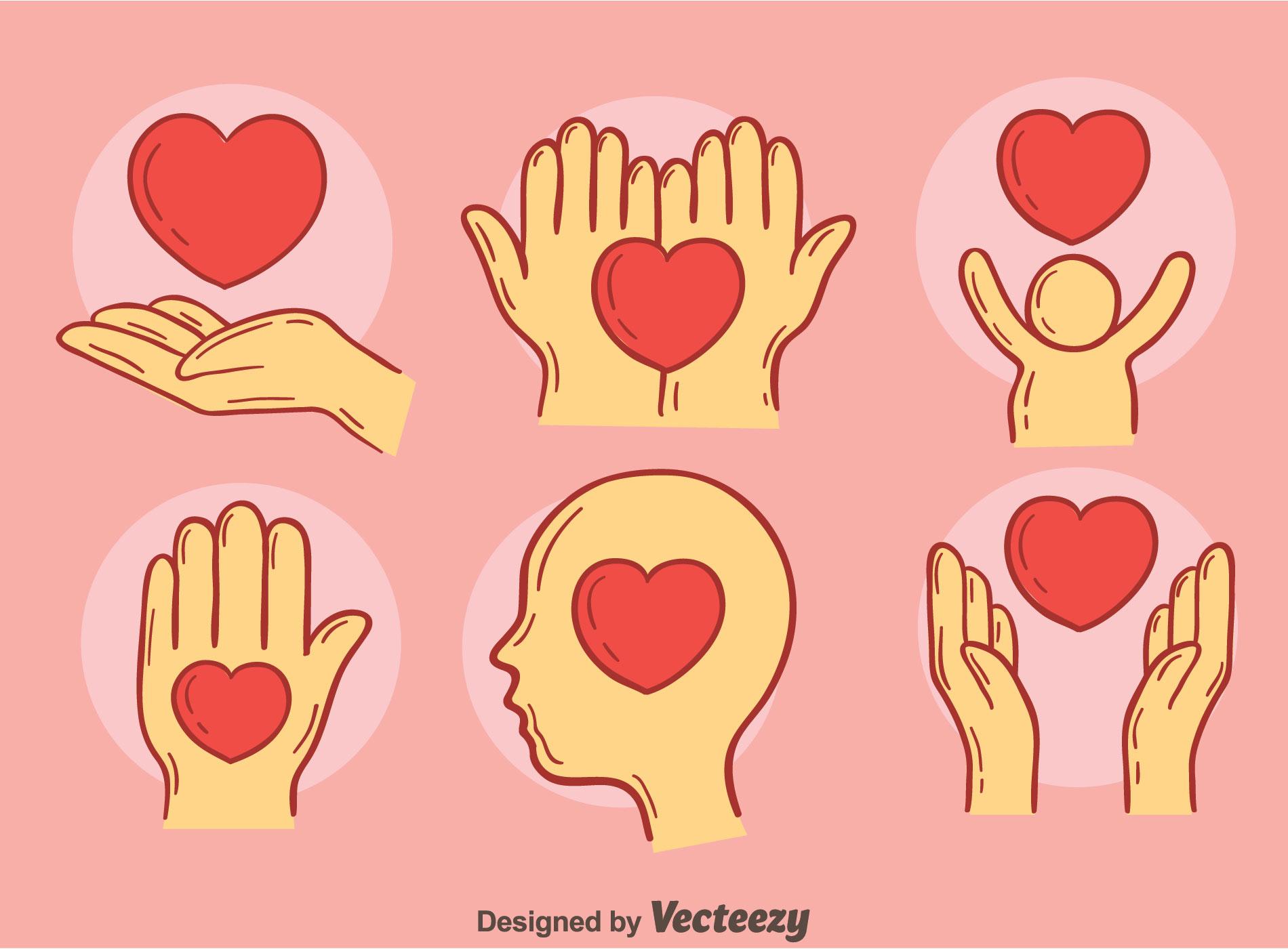 volunteer hand free vector art