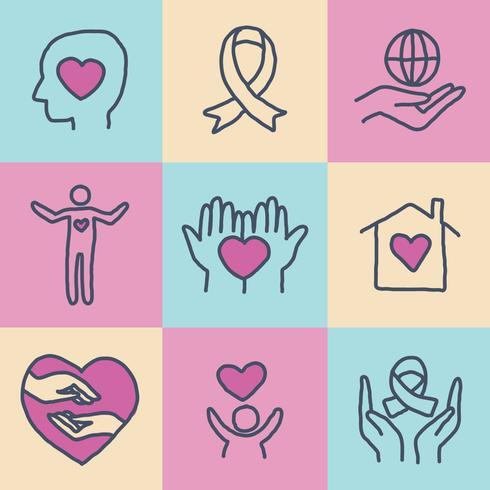 Verspreiding vriendelijkheid en liefde Vector Pack