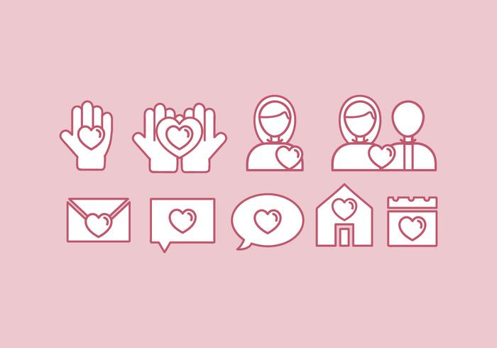 Vector Kindness Icon Set