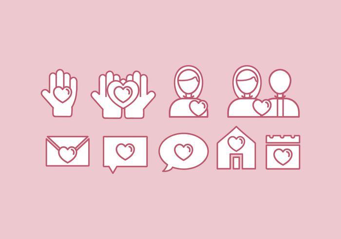 Conjunto de ícones de bondade de vetores