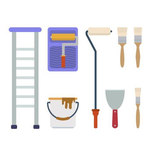 Flat Paint Tool Vectors