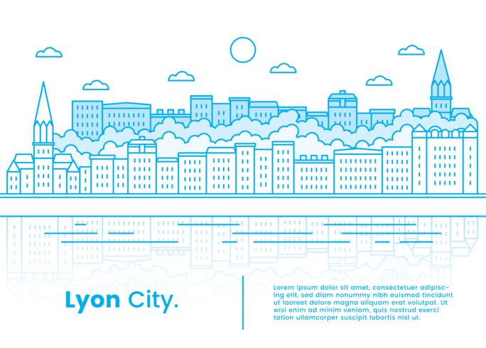 lyon city vector