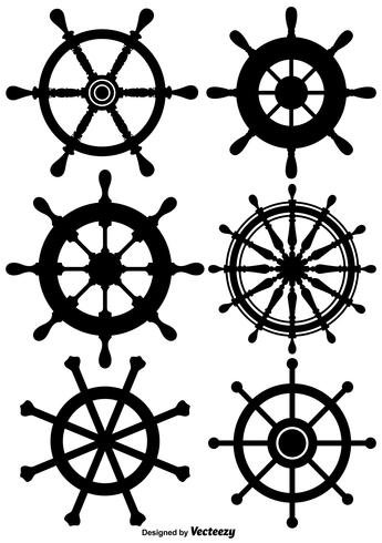 Vektor Ship Wheel Icon Set