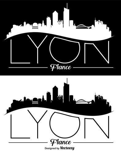 Vektor Lyon Skyline