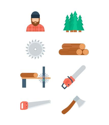 Free Unique Woodcutter Vectors