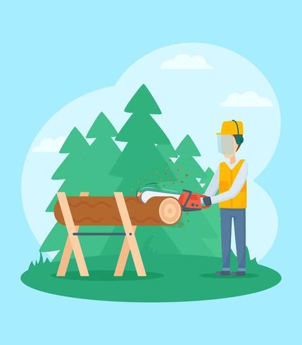Gratis Unika Woodcutter Vectors