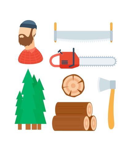 Free Unique Woodcutter Vectors