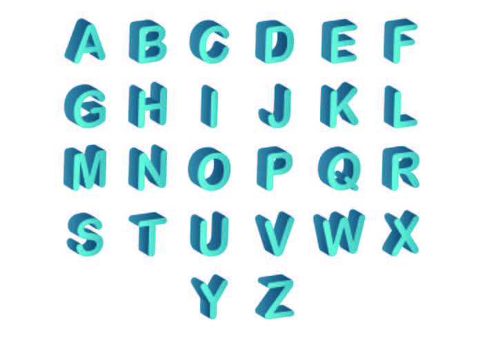 3d Fonts Free Vector Art - (14,945 Free Downloads)