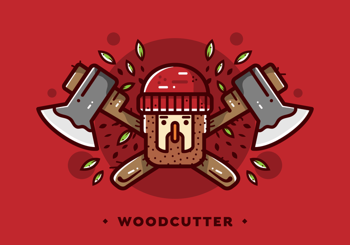 Lumberjack Woodcutter Badge Vector