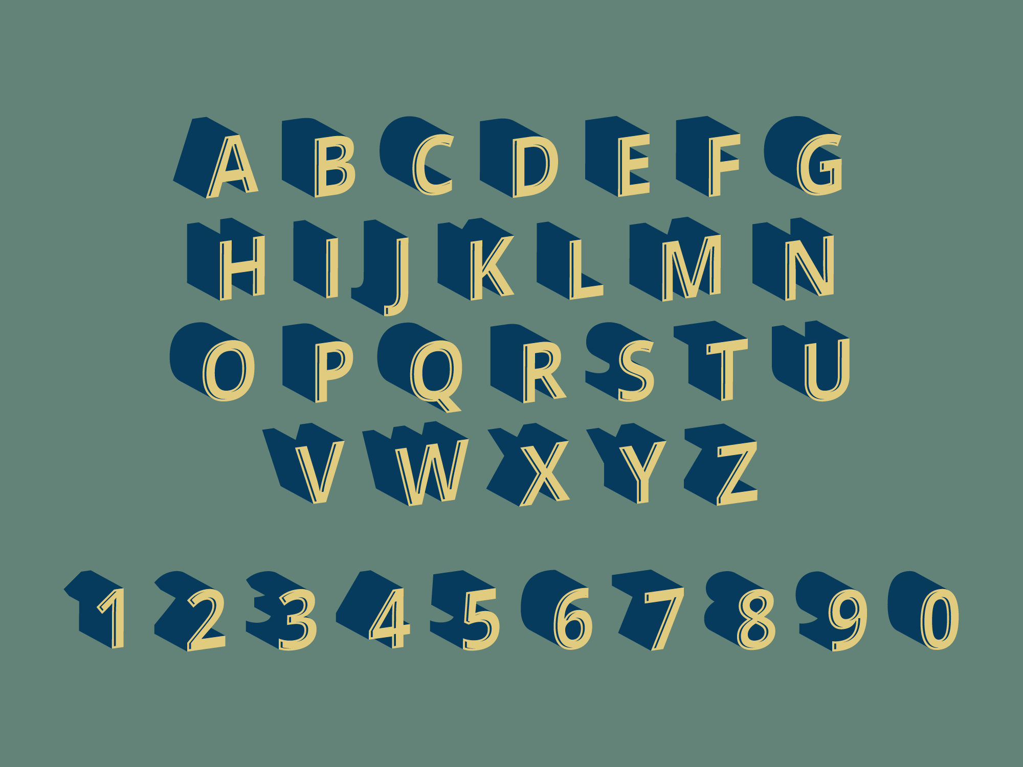 Download 3D Fonts Vector In Retro Style - Download Free Vectors ...