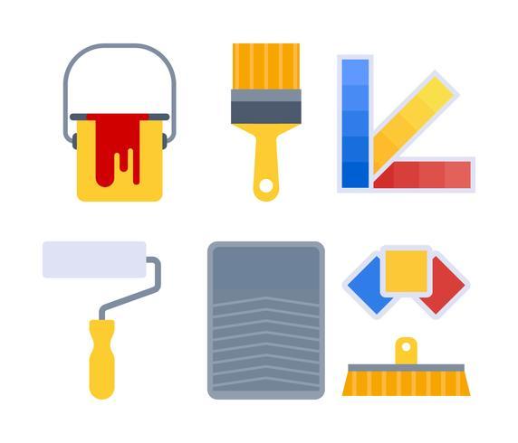 Free Outstanding Paint Tools Vectors