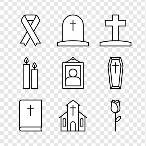 Mourning Icons vector