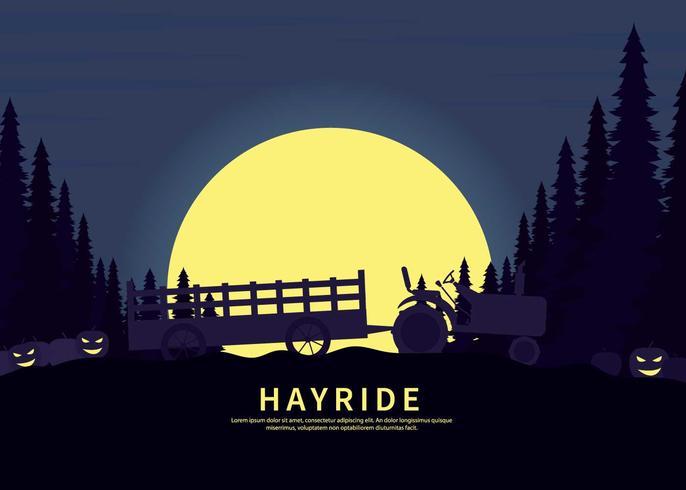Free Hayride Silhouette Illustration