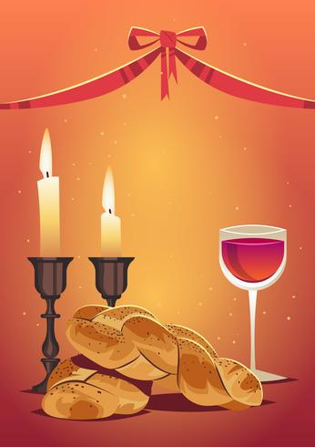 Celebratory Challah Bread Vector