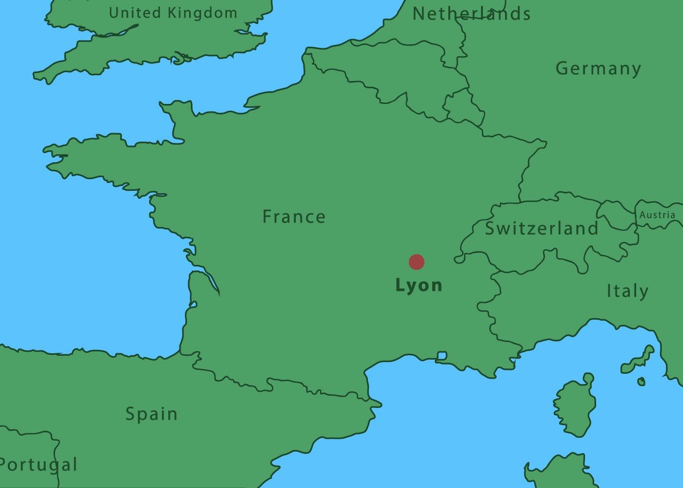 Map Of Lyon City Download Free Vectors Clipart Graphics