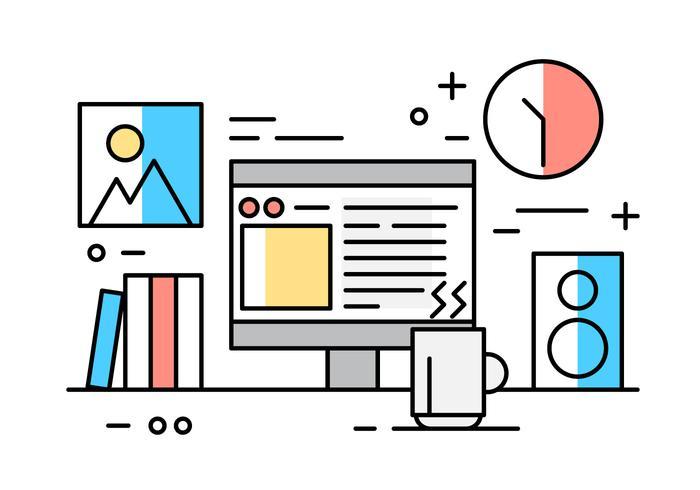Kostenlose Büro-Schreibtisch-Elemente