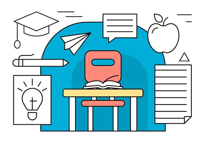 iconos de vector de educación lineal