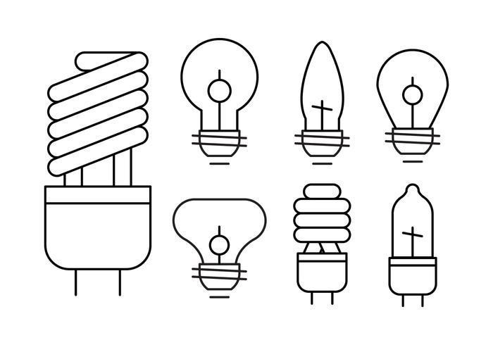 Conjunto de lâmpadas lineares