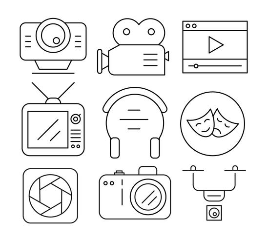 Linear Video Icons