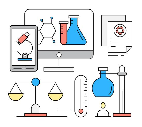 Free Linear Chemistry Icons