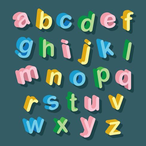 3D Schriftarten