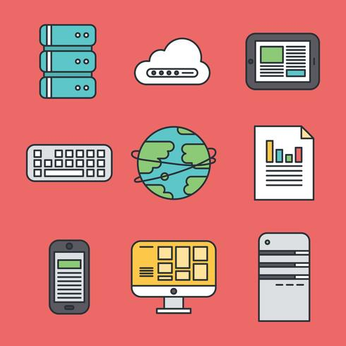 Colorful Internet Icons