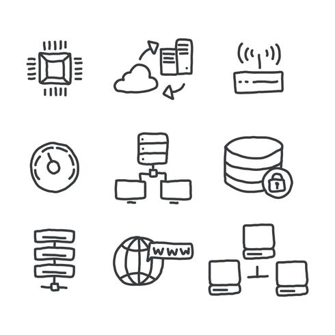 Doodled Data Base Icons
