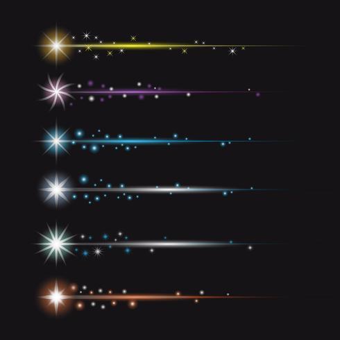 Bunte Stardust mit Schwanz Vector Collection