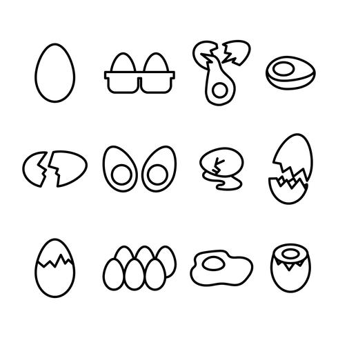 Outlined Eggs Icons