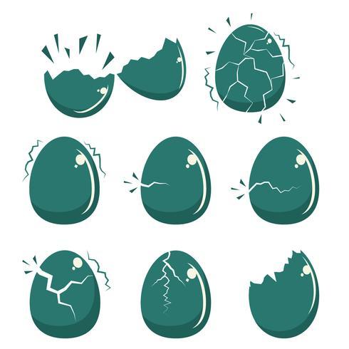 Broken ägg ikon platt vektor