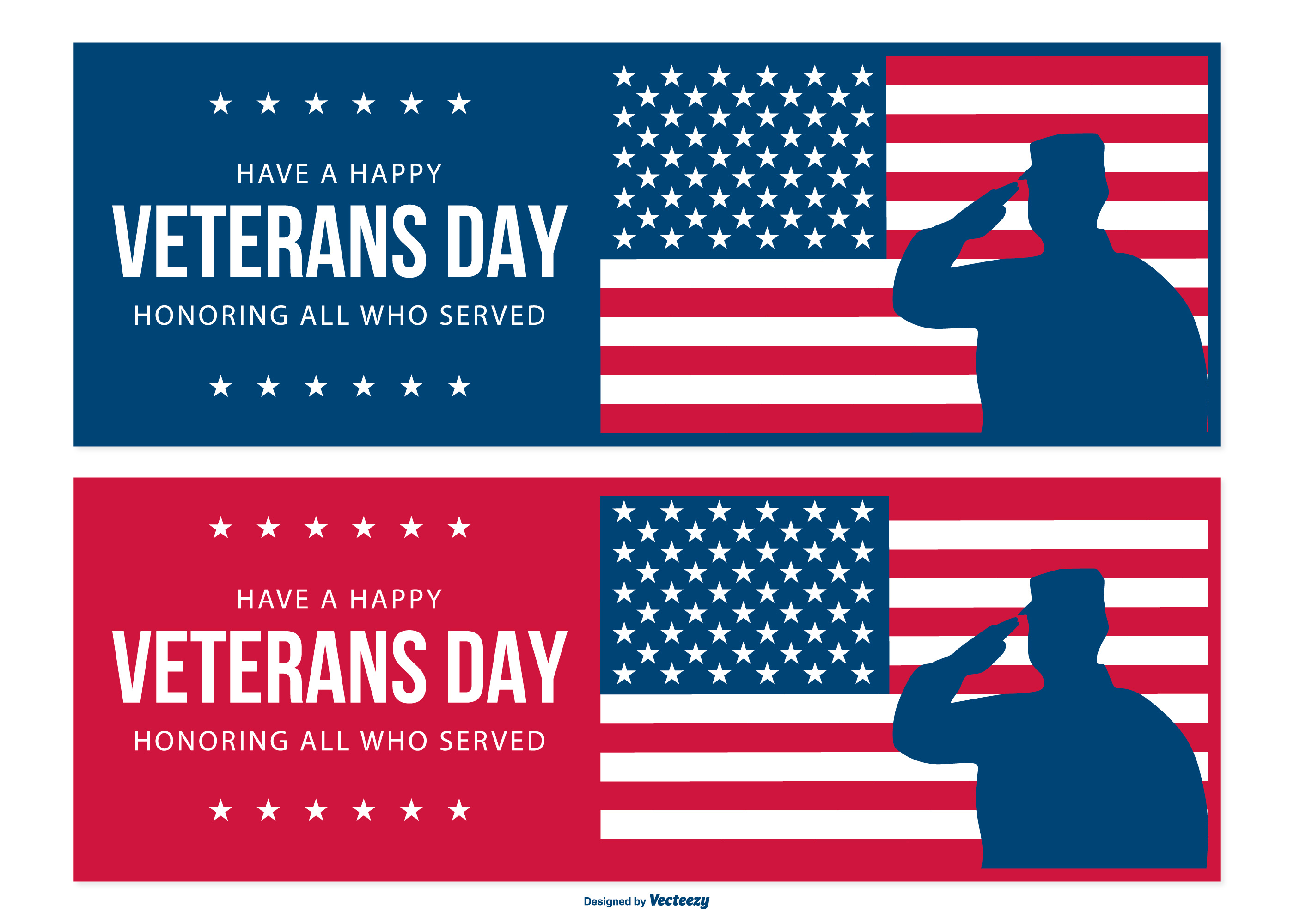 Veteran Day Banner Collection - Download Free Vector Art ...