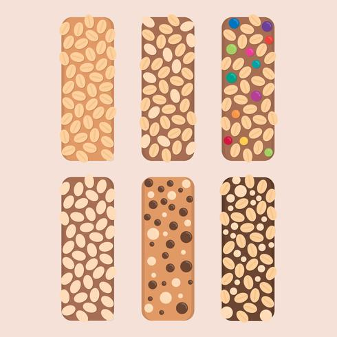 Barras de granola coloridas