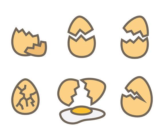 ikon för trasig äggvektor