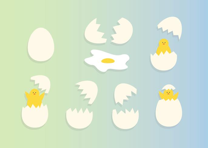 Gratis Broken Eggs Vector