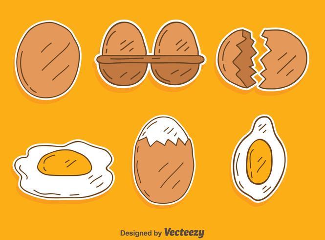 Handdragen Broken Egg Vector