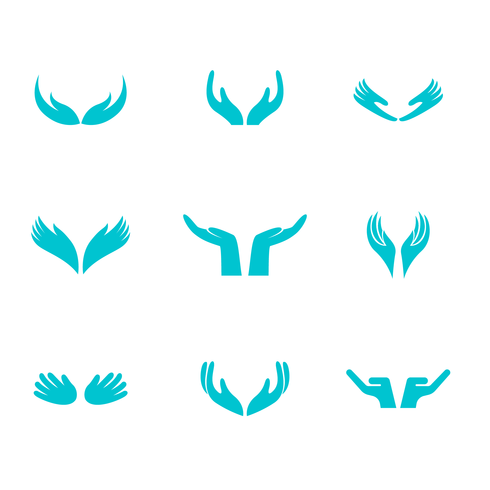 Mani di guarigione Logo vettoriale