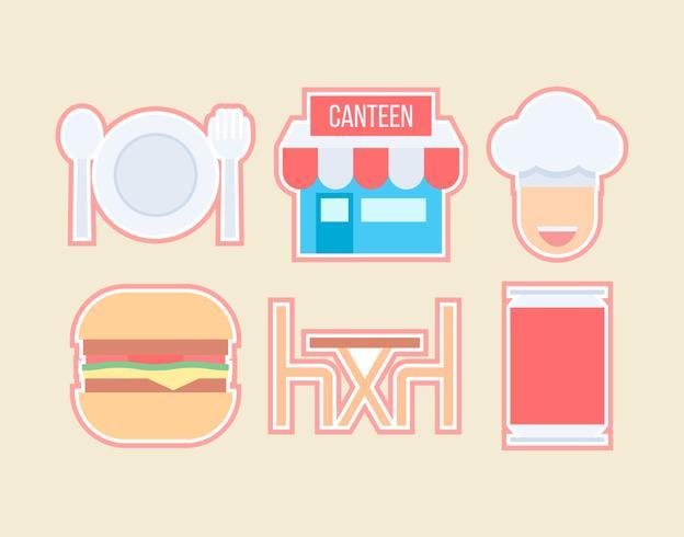 Free Outstanding Canteen Vectors