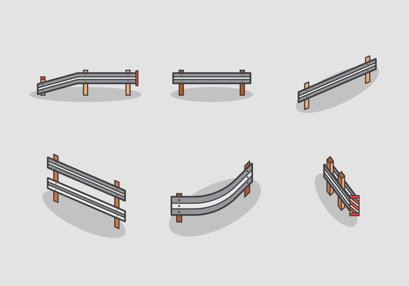 Guardrail Free Vector Pack Download Free Vector Art