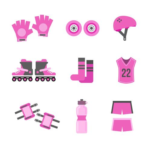 Free rollerblade vector icons