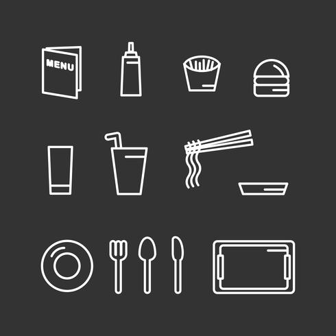 Canteen Vectors Icons