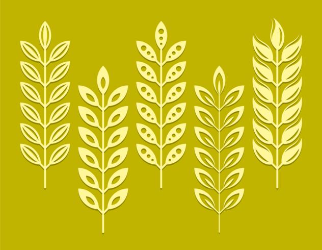 Wheat Ears Silhouette vector