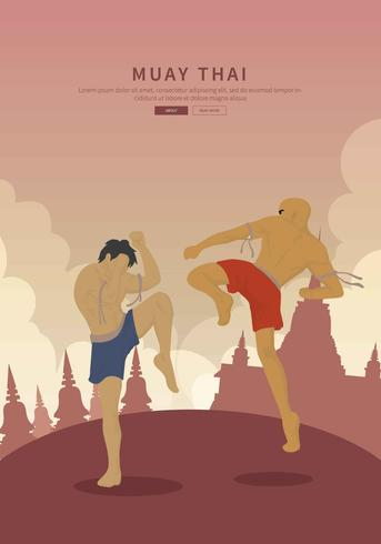 Free Muay Thai Illustration vector