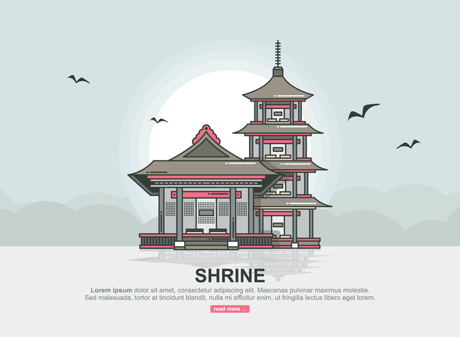 Illustration vectorielle de sanctuaire
