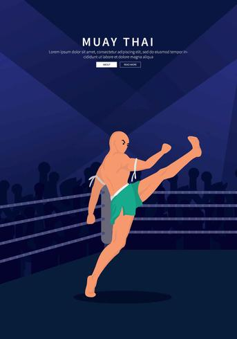 Free Muay Thai At Arena Illustration
